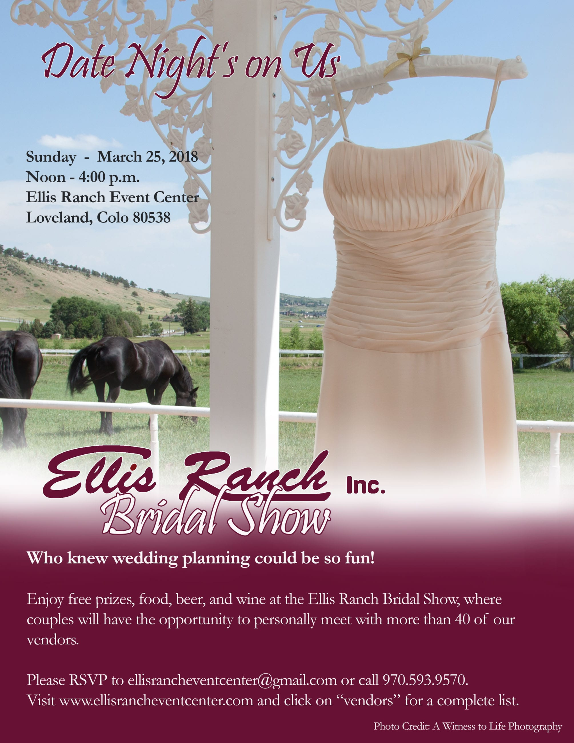 Bridal Show Flyer 2018 | Ellis Ranch | Fort Collins Wedding Photographer